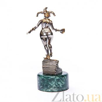 Серебряная статуэтка с позолотой Арлекин 881