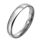 Обручальное кольцо из платины Классика, ширина 4 мм