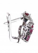 Серебряные серьги Ирэн с рубинами и фианиатми