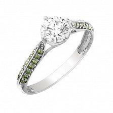 Золотое кольцо Оливия с бриллиантами и сердцами в касте
