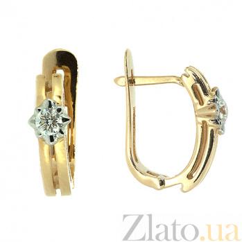 Золотые серьги с бриллиантами Алия ZMX--ED-6262_K