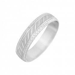 Серебряное обручальное кольцо 000088382