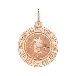 Підвіска з червоного золота Знак Зодіаку Козеріг 000147763