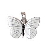 Серебряный подвес с эмалью Бабочка