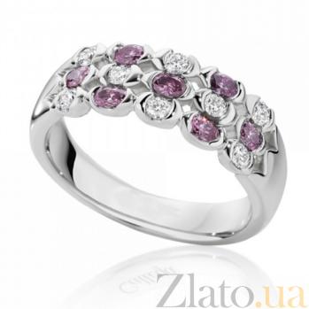 Кольцо Argile из белого золота с бриллиантами и розовыми сапфирами R-cjAr-W-7s-8d