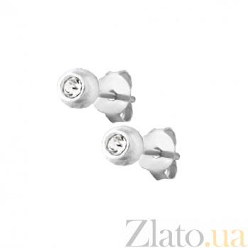Серьги-гвоздики из серебра Капля блеска SLX--С1СТ/609