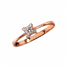 Золотое кольцо Кристин с бриллиантами