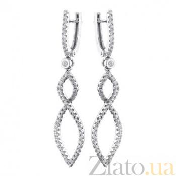 Золотые серьги с бриллиантами Элеонора KBL--С2340/бел/брил