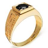 Кольцо Изобилие с черным бриллиантом