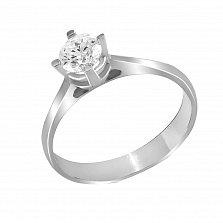 Кольцо из белого золота Лирика с бриллиантом