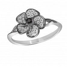 Кольцо из белого золота Сьюзен с бриллиантами