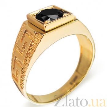 Кольцо Изобилие с черным бриллиантом R0563