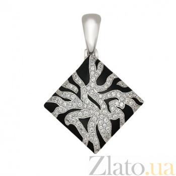 Кулон  из белого золота с фианитами Сафари VLT--Т3321