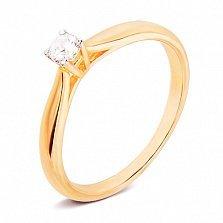 Золотое кольцо с цирконием Паулина