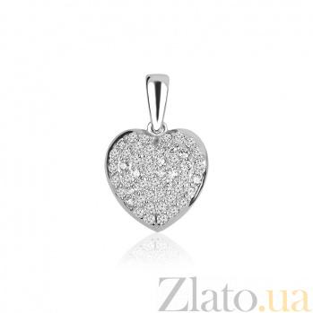 Золотой подвес Искреннее сердце с бриллиантами 000045907