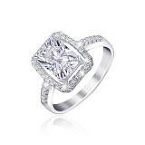 Серебряное кольцо с фианитами Делайт