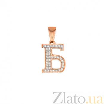 Золотая подвеска Буква Б VLT--ЕЕ3549-Б