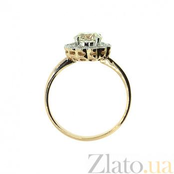 Золотое кольцо Мариэль в красном цвете с бриллиантами 000021486