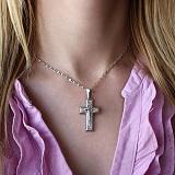Серебряный крестик Спаситель Небесный
