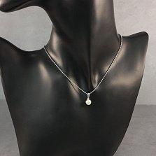 Серебряная подвеска Белоснежная жемчужинка