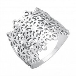 Серебряное широкое кольцо Кельтский оранмент 000119136