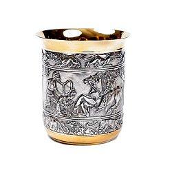Серебряный стакан Скифы с позолотой