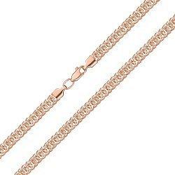 Цепочка из красного золота в фантазийном плетении 000143840
