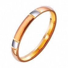 Золотое обручальное кольцо Стиль в комбинированном цвете