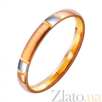 Золотое обручальное кольцо Стиль в комбинированном цвете TRF--4111333
