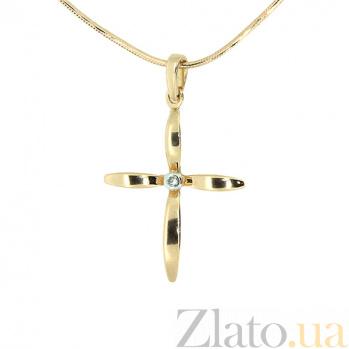 Золотой декоративный крестик с бриллиантом Феде ZMX--PD-6770_K
