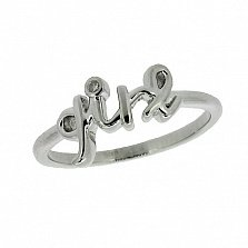 Серебряное кольцо с бриллиантами Girl