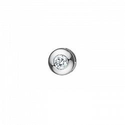 Золотой кулон Эмильена в белом цвете с завальцованным бриллиантом