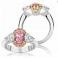 Кольцо Argile из белого золота с бриллиантами и розовыми сапфирами R-cjAr-W-11s-2d