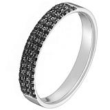 Кольцо Райана в белом золоте с бриллиантами