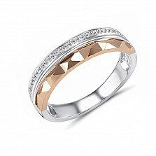 Обручальное кольцо Сенчия из красного и белого золота с бриллиантами