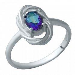 Серебряное кольцо с мистик топазом 000115636