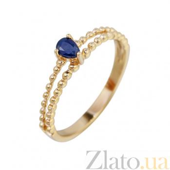 Золотое кольцо с сапфиром Тиффани 000032298