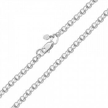 Серебряный браслет в плетении бисмарк ручеек 000118113, 3 мм