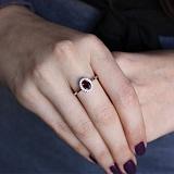 Серебряное кольцо Лия с гранатом и фианитами