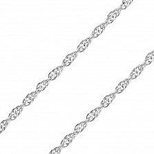 Серебряная родированная цепочка Воздушная невесомость в плетении Ребекка, 2мм