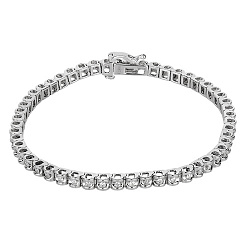 Браслет из белого золота с бриллиантами Ванесса 000020829