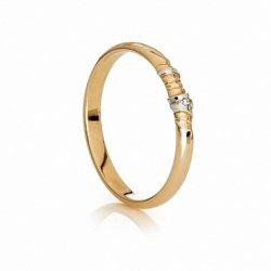 Обручальное кольцо с бриллиантом Символ любви