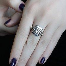 Серебряное кольцо с бриллиантами Адель
