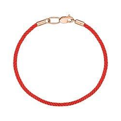 Браслет из красного золота с шелковой нитью 000147898