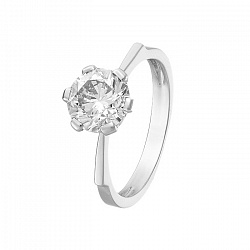 Кольцо в белом золоте Noa с бриллиантом