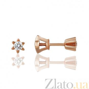 Золотые серьги с бриллиантами Гаянэ EDM-С7477G