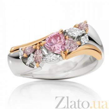 Кольцо Argile из белого золота с бриллиантами и розовыми сапфирами R-cjAr-W/R-5s-5d