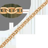 Золотая цепь Валентино, 6мм