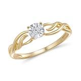 Кольцо из желтого золота Франческа с бриллиантом