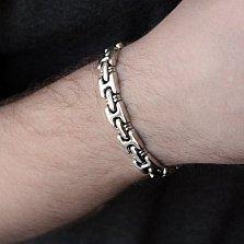 Серебряный браслет Лейден фантазийного плетения, 10мм